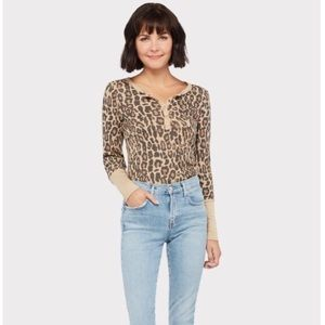 Splendid Forever Leopard Henley Large Thermal